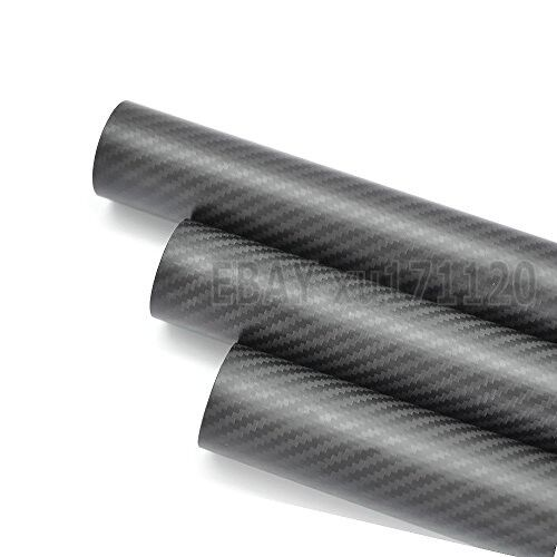 ID 76mm x OD 80mm x 500mm 3k Carbon Fiber Round Tube Matte (Roll Wrapped) 8076
