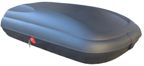 Dachbox BA320L carbonlook+Dachträger RAPID für Skoda Fabia I Kombi 6Y 5Tür 99-07