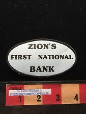 Vtg 1980s ZIONS FIRST NATIONAL BANK Patch ~ BANCORPORATION UTAH IDAHO 625 xe