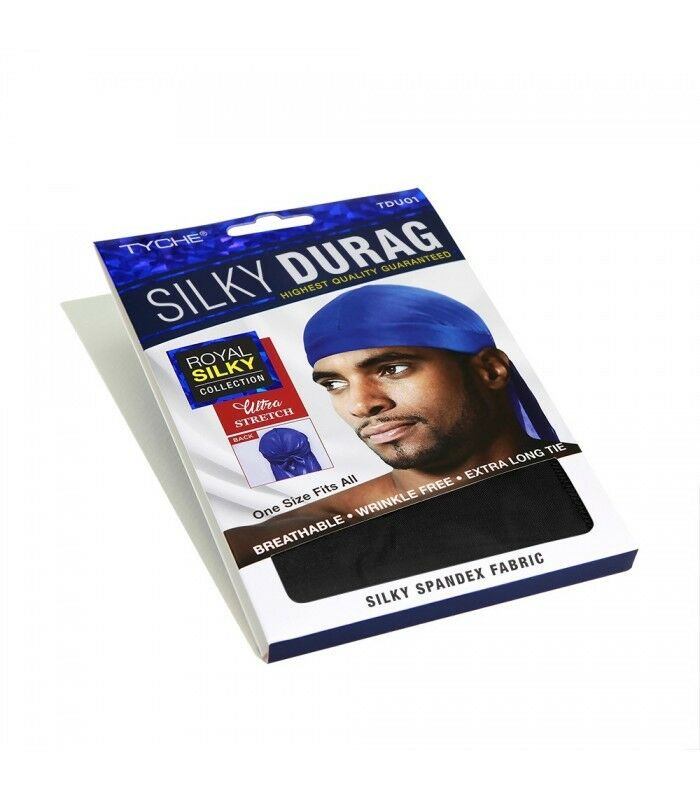 Tyche Silky Durag Ultra Stretch Spandex Fabric Extra Long Tie Men/'s Caps 1Color