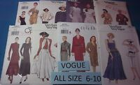 A Vogue All Patterns Are Sizes 6-10 (6,8,10) U-pick 23+ Listed 9839 Nip