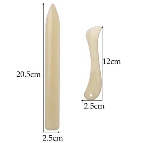 2Pcs Bone Folder Craft Tools Leather Scoring Folding Creasing Paper Accesso G4