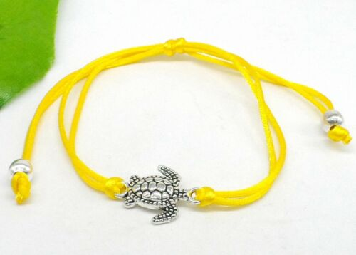 Free Ship 1//10pcs String tortues de mer Lucky Rouge Cordon Réglable Bracelets NEUF