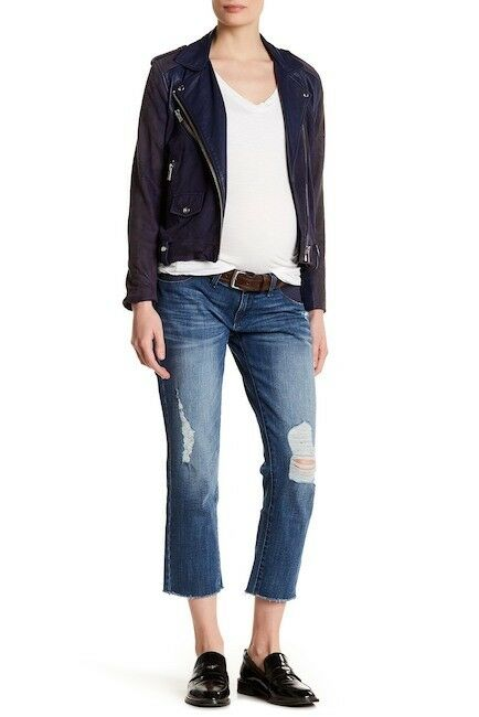 NWT DL1961 Riley Distressed Crop Jeans (Maternity) 27  178