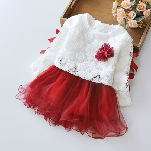 Flower Kids Girls Princess Dress Party Wedding Bridesmaid Pageant Prom Dresses