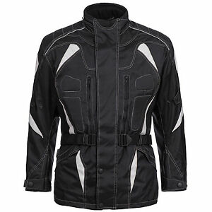 Chaqueta-de-Moto-Textil-Cordura-Roller-Biker-Negro-Talla-M-L-XL-XXL-3xl-4xl-777
