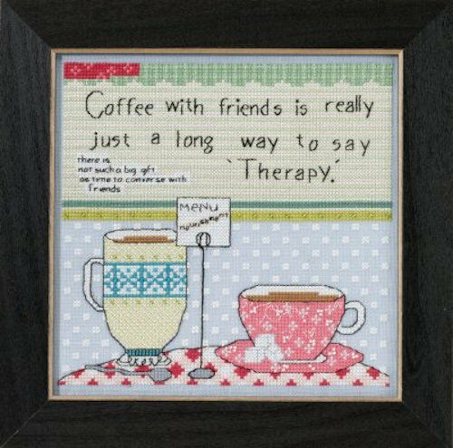 Coffee with Friends Sale 25/% Off Mill Hill Curly Girl Design X-stitch//Bead Kit