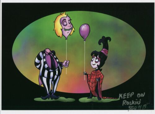 Beetlejuice Cute Fun Signed Tribute 8.5x11 Color Print With COA