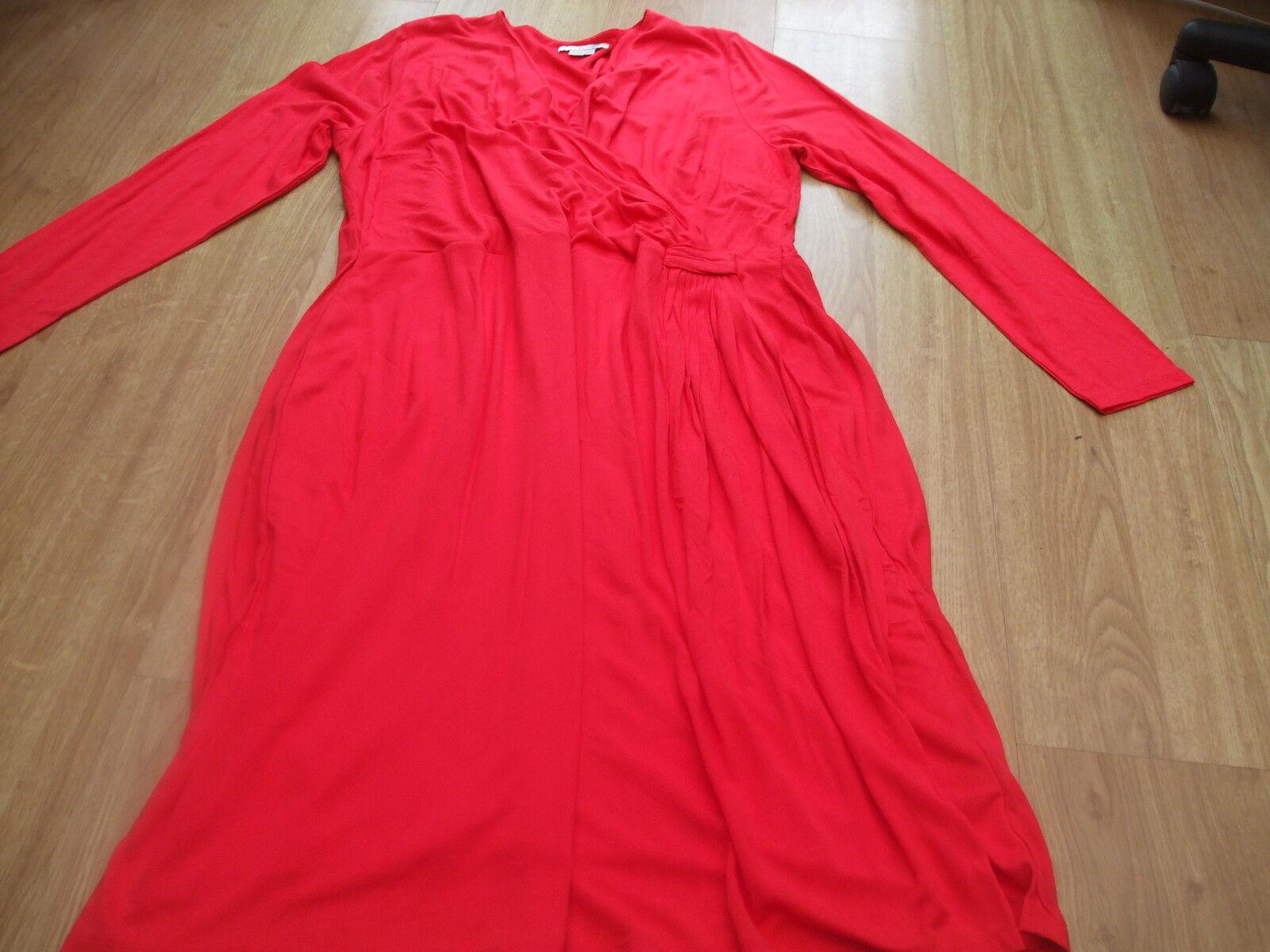 BODEN FAB rot rot rot HENRIETTA JERSEY DRESS Größe 10 LONG BNWOT | Förderung  48c7ae