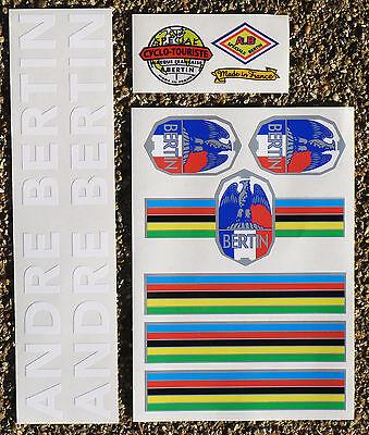 Der GüNstigste Preis Andre Bertin Vintage Style Cycle Frame Decals Stickers Metallic Ink White Text