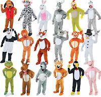 Adult Big Head Animal Mascot Fancy Dress Costume Outfit Jumbo Onesie Mens Ladies