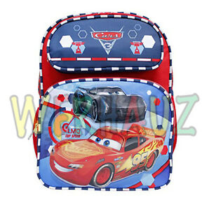 44902ee16a52 Disney Pixar Cars 3 Lightning Mcqueen Kids Boys Small Backpack ...