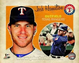 "Josh Hamilton Texas Rangers MLB Retro Composite Photo (Size: 8"" x 10"")"
