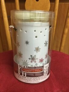 Yankee-Candle-Luminary-Tea-Light-Holder-4-Candles-Sparkling-Snow-Christmas-Gift