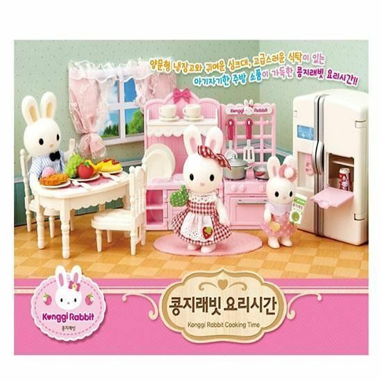 Konggi Rabbit Cooking Time Cute Couple Family Baby Doll Toy Toy Toy Fancy Girl Gift_VA dd82c6