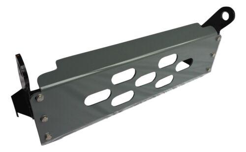 Protezione Sterzo Rivestito Grigio Defender LHD 6mm Alluminio Piastra