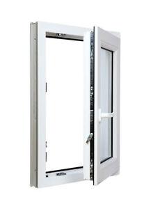 Finestre-in-PVC-Larghezza-900mm-con-Anta-amp-Ribalta-Vetro-Termo-doppio-con-argon