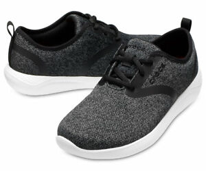 81aabb98eed4 Image is loading Women-Crocs-LiteRide-Lace-Shoes-205104-066-Black-