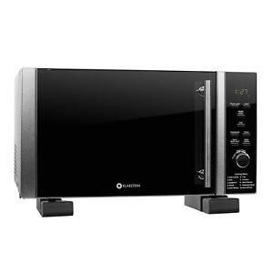 klarstein luminance set occasione forno microonde grill 900w desigh nero staffa ebay. Black Bedroom Furniture Sets. Home Design Ideas