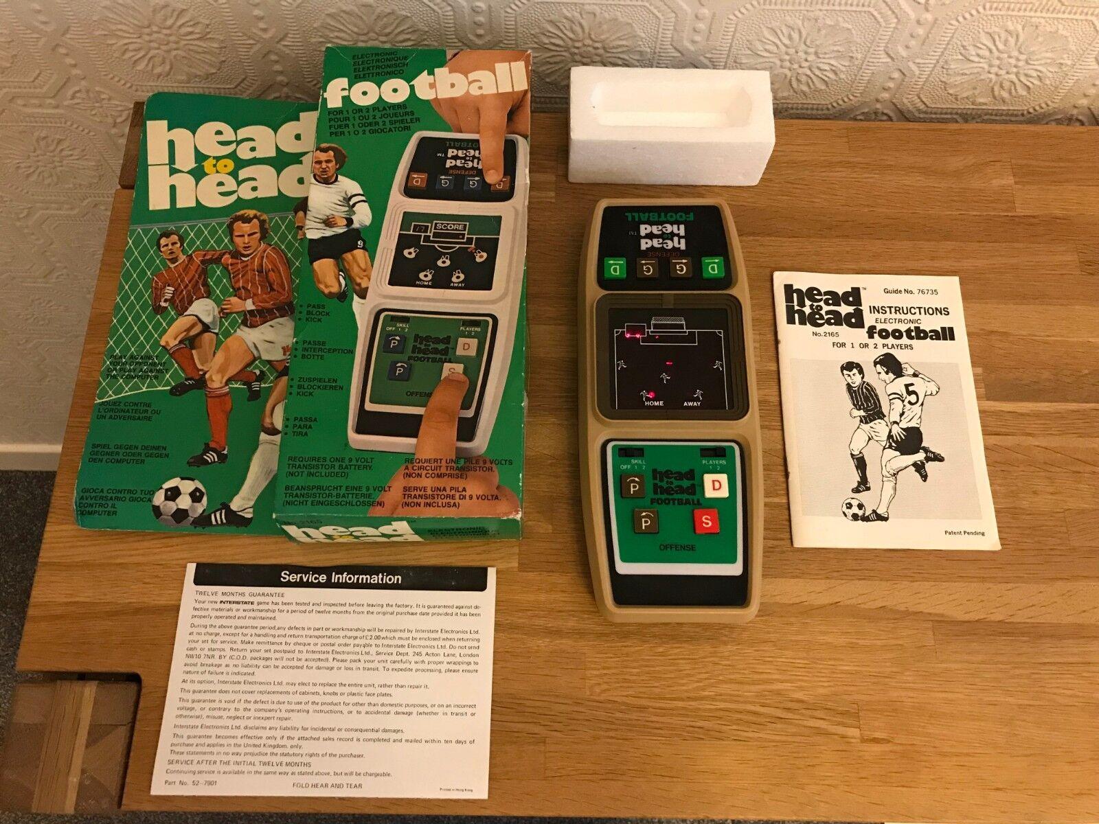 Excelente cabeza a cabeza de fútbol en Caja Coleco Vintage 1980 LED juego electrónico como nuevo.