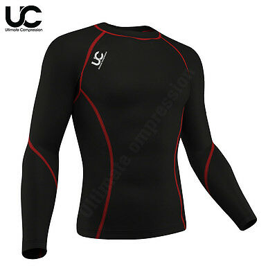 Mens Compression Thermal Base Layer Long Sleeve Under Shirt Skin Body Armour