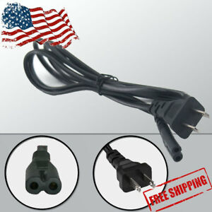 2-Prong-AC-Power-Cord-Cable-Figure-8-Plug-Laptop-TV-Monitor-One-S-PS4-PS3-PS2-US