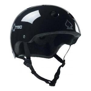 New-Pro-Tec-The-Classic-Plus-Gloss-Black-Skateboard-Helmet