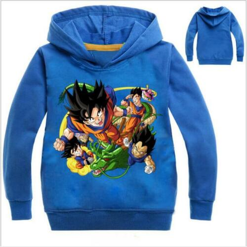 Kids Boys Girls Dragon Ball Hoodies Casual Cartoon SweatShirt Tops Clothes Coat
