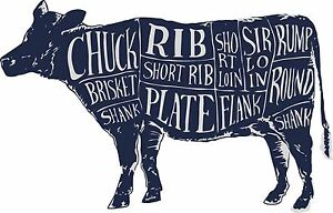 Cuts of meat wall art diagram wall sticker beef cow butchers decal image is loading cuts of meat wall art diagram wall sticker ccuart Gallery