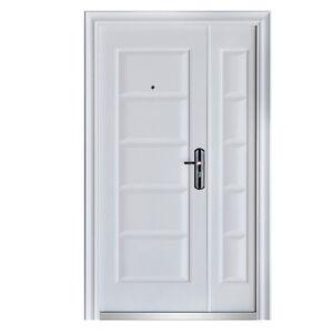 haust r t r sicherheitst r doppelt r wohnungst r 120 x 205 cm din rechts wei ebay. Black Bedroom Furniture Sets. Home Design Ideas