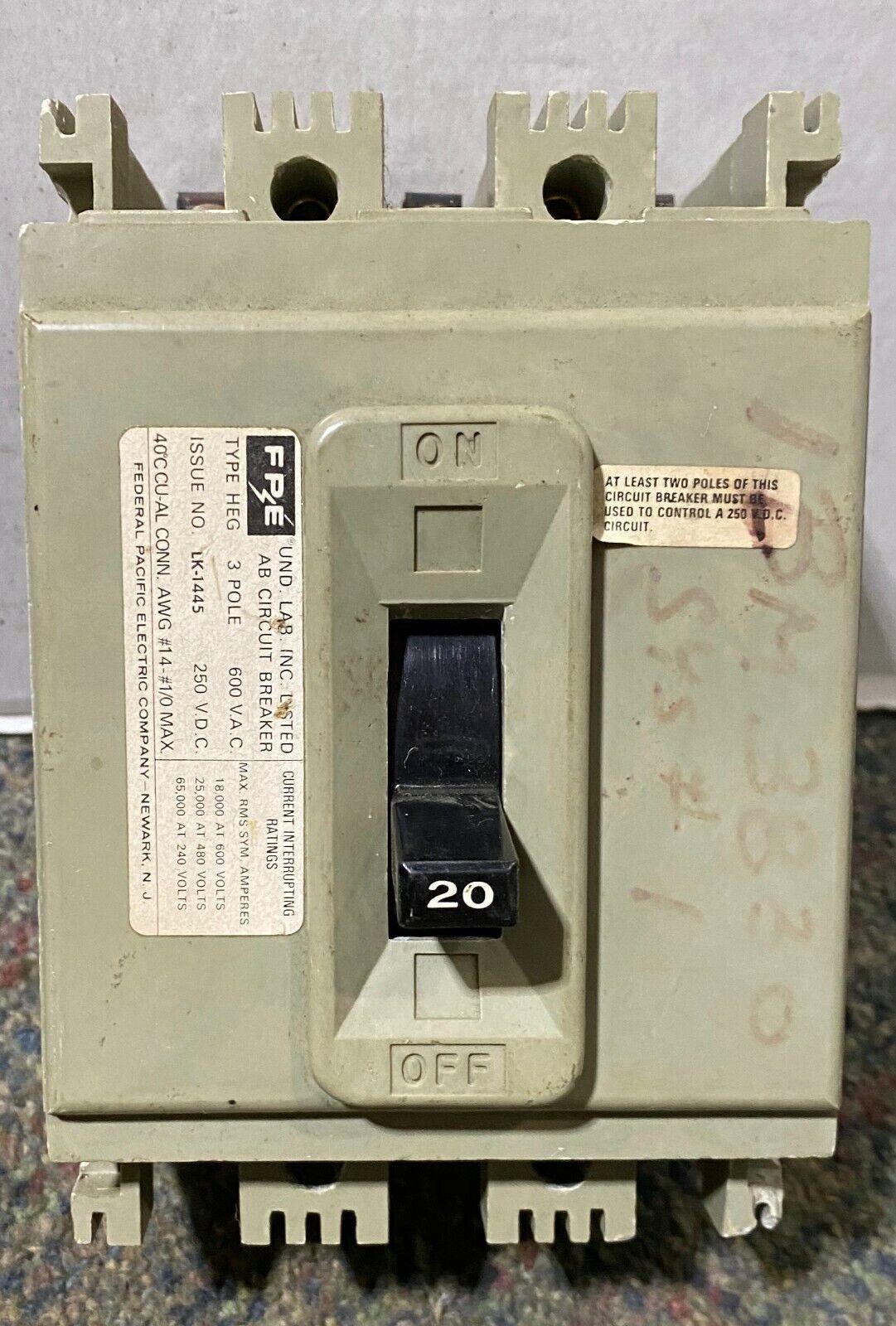 FPE NA 3 Pole Phase Stab-lok Circuit Breaker 20A 30A 40A 50A 70A 3P CHOICE 8205