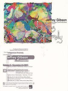 INDIGENOUS-ANOMALY-PAINTING-EXHIBITION-BY-JEFFREY-GIBSON-UNUSED-COLOUR-POSTCARD