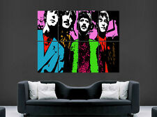 THE BEATLES TRIPPY POSTER ABSTRACT PSYCHEDELIC MUSIC BAND ART WALL LARGE