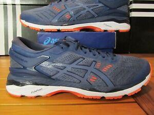 puoleen hintaan noukkia luotettava laatu Details about DS Asics Gel Kayano 24 Smoke Blue Red White 11 T749N 5656  Running Shoes Trainers