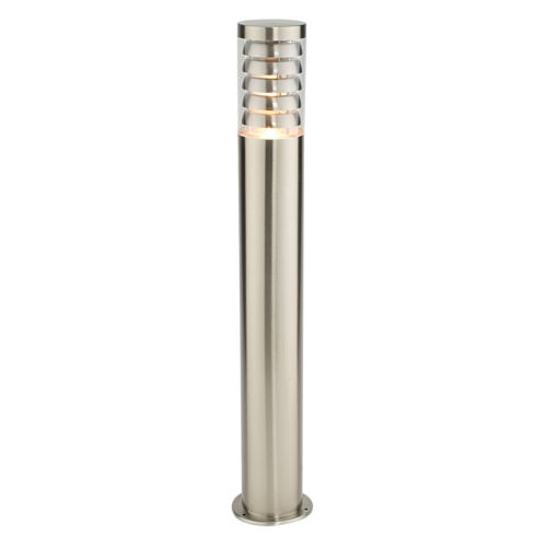 Endon Tango outdoor bollard IP44 9.2W Brushed stainless steel /& clear pc