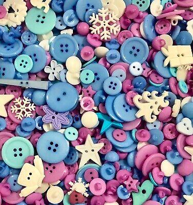 Purple Clear Buttons 50pcs Assorted Shades /& Sizes Bulk Lot Aussie Seller