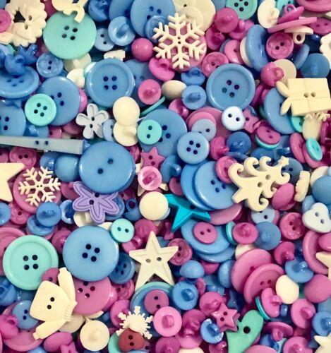 Christmas Mix Buttons 50pcs Assort Shapes Size Bulk Lot Aussie Seller