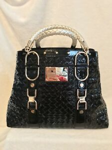 b95763a143 Image is loading NEW-VERSACE-COUTURE-Black-Patent-Leather-MADONNA-034-