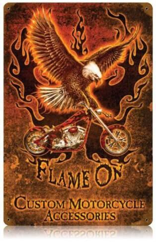 Motorcycle Eagle Biker Metal Sign Man Cave Garage Shop Club Barn Shed LWT053