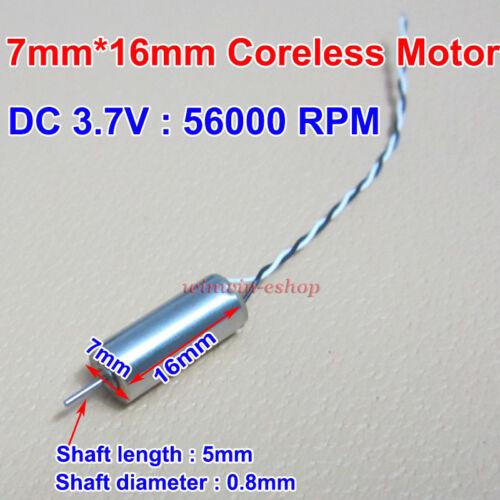 7mm*16mm DC 3V 3.7V 56000RPM High Speed Strong Magnetic Micro Coreless DC Motor