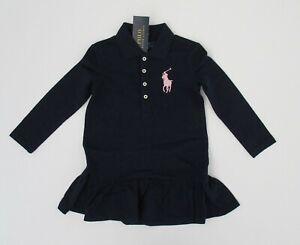 NWT-Ralph-Lauren-Girls-LS-Classic-Big-Pony-Mesh-Polo-Dress-Sz-5-6-6x-NEW-50