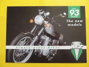 2019 DernièRe Conception Mz 125 251 301 500 Gamme Range 1993 Brochure Publicité Catalogue Prospekt