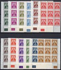 GERMANY Nazi BOHEMIA MORAVIA 1943 Official Swastika / Eagle Plate Blocks of 9