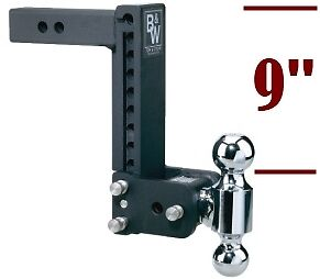 Adjustable Hitch Receiver >> B W Tow Stow Double Ball Adjustable Receiver Hitch 2 2 5 16