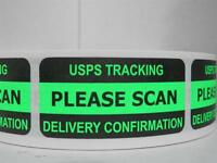 Please Scan Tracking Delivery Confirm. Green, 55 Cut/fold Labels, Trial Size