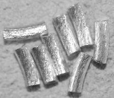 8 GEBOGENE KUPFER RÖHRCHEN VERSILBERT 10x3 MM 8710.