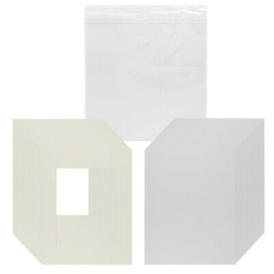 Pack of 11x14 Acid Free Cream Core Picture Mats Cut for 8x10 Pictures in Cream 5