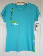 Brand New With Tags Attached Womens Blue ROXY Surf Print Tshirt Top, Size M