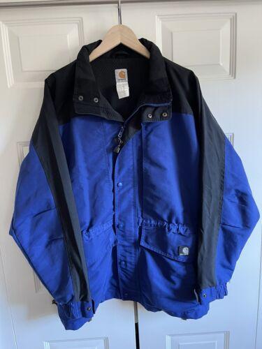 Men's Carhartt Black & Blue Hooded Mesh Lined Jack