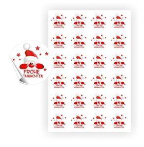 Etiketten Frohe Weihnachten.Details Zu 120 Aufkleber Weihnachtsmann Frohe Weihnachten Nikolaus Sticker Etiketten Grüße
